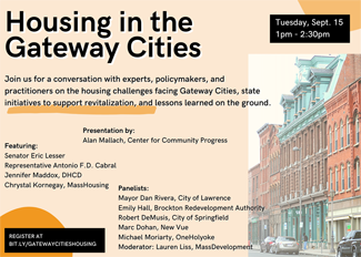 Housing in the Gateway Cities webinar, September 15, 2020